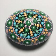Hand Painted Mandala Stone Mandala Meditation Stone Dot Art