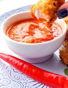 Pieczone nuggetsy z kurczaka z sosem arrabbiata Cheeseburger Chowder, Poultry, Cantaloupe, Favorite Recipes, Fruit, Desserts, Food, Dinners, Drinks