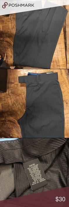 Men's brand new dress slacks *Light grey , slim fit  *75% Polyester, 22% viscose  3%Spandex *Brand new     *Pleated Pants Dress