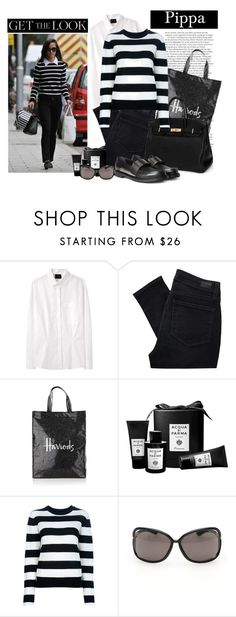 """""""Get the Look: Pippa Middleton"""" by adduncan ❤ liked on Polyvore featuring ASOS, Pippa, Rachel Comey, Paige Denim, Harrods, Hermès, Acqua di Parma, By Malene Birger, Tom Ford and Yves Saint Laurent"""