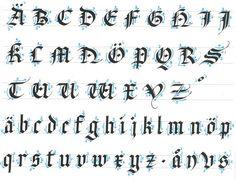 gothic calligraphy tutorial - Buscar con Google