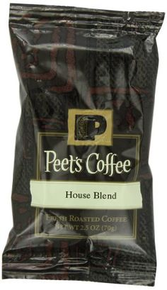 Peet's Coffee House Blend Ground Coffee, Dark Roast, 2.5-Ounce Portion Packs (Pack of 18)