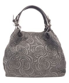 This Gray Swirl-Embossed Leather Hobo is perfect! #zulilyfinds