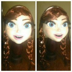 Anna!! #Frozen  #MDTeStudio #Anna #AnnaFrozen  #personagemvivo #personagens #fantasia #eventos #festas #animaçao #bonecovivo #bonecos #mascote #mascot #mascota #costume #head #cover #model #latex #modelagem #máscara #mask