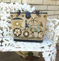 Vintage Enid Collins Jeweled Carriage Trade Purse. $78.00, via Etsy.