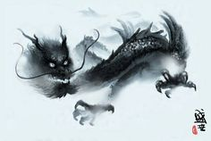 Impressionistic Chinese dragon