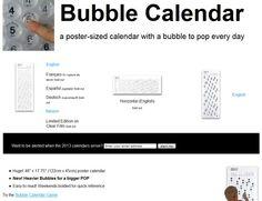 Kalender aus Luftpolstern #bubble