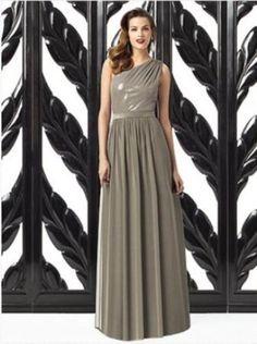 38.60$  Watch now - http://vilms.justgood.pw/vig/item.php?t=j0p5nb323700 - Dessy 2872.....Full length, One shoulder Dress.....Mocha....Sz 8 38.60$