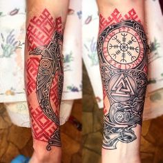 Viking Tattoos are very popular among men and women, because it carries a mystical meaning. Vikings were famed for their courage, be it bravery in battle or the unflinching approach towards sailing into the unknown. Slavic Tattoo, Pagan Tattoo, Rune Tattoo, Norse Tattoo, Celtic Tattoos, Viking Tribal Tattoos, Viking Tattoos For Men, Viking Tattoo Sleeve, Mandala Tattoo Sleeve