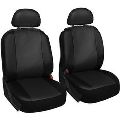 OxGord Polyurethane Seat Covers in. L x 21 in. W x 31 in. H Seat Cover Set Gray and Black - The Home Depot Bucket Seat Covers, Car Experience, Log Home Interiors, Product Offering, Log Homes, Car Seats, All In One, Upholstery, Van