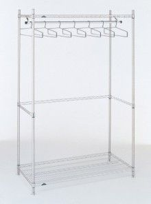 Garment Hanger Rack can be modified to fit your specific needs!  #MetroShelving #MetroGarmentRack