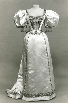 1895-1896 Worth Evening Dress