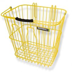 basil milk rear bike basket yellow