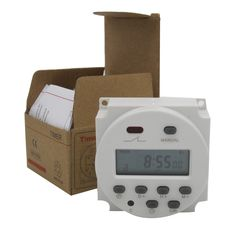 DC 12V Digital Round LCD Power Programmable Timer Time Relay