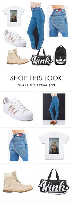 """a kylie outfit"" by mickylafraser on Polyvore featuring adidas, Tommy Hilfiger, Timberland and adidas Originals"