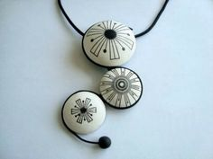 Necklace by AIGUE | Polymer Clay Planet