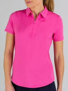 If you're in the market for some new outfits, consider our women's apparel! Shop this comfortable and stylish Venom (Rose Pink) JoFit Ladies Short Sleeve Performance Golf/Tennis Polo Shirts from Lori's Golf Shoppe.