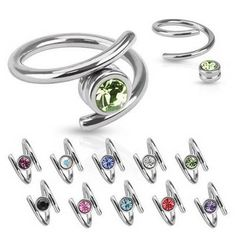 Ear Cartilage Piercing Helix Twister Ring Captive 316L Surgical Steel 16g | eBay