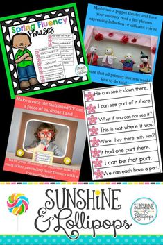 Sight Word Fluency Phrases for First 100 Fry Words Sight Word Practice, Sight Word Games, Sight Word Activities, Fluency Activities, Fun Activities, Interactive Activities, Sight Word Sentences, Sight Words, Teaching Resources