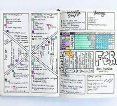 Bulletjournal monthly layout.  Bujo planner