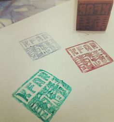 New addition to the card making! Now I can officially stamp my cards! #stamps #logo #personalized #thankschina