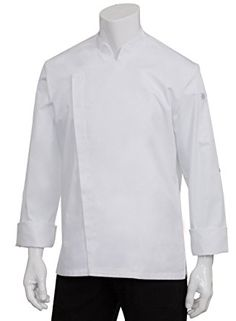 Dickies Chef Executive Coat with Stain Repellent with Piping White//Black 4X-La