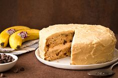 Banana Layer Cake with Peanut Butter Cream Cheese Frosting. Can we get it an OH YEAH?