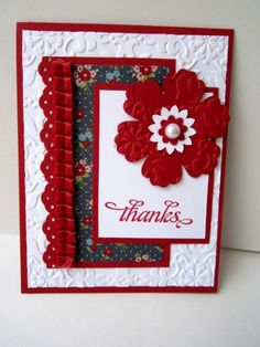 Blossoms, Blossoms! | StampingWithShari.com Could switch flower for big star.  Would be cute with star border punch.
