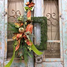 Your place to buy and sell all things handmade Wreath Crafts, Diy Wreath, Door Wreaths, Wreath Fall, Wreath Making, Spring Wreaths, Wreath Ideas, Elegant Fall Decor, Elegant Fall Wreaths