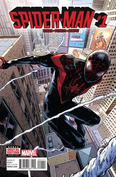 Marvel Comics Spider-Man (Vol 2) #1 1st Printing Sara Pichelli Cover *Description: Miles Morales has been doing the super hero thing for a while, now, but after SECRET WARS, he'll be a full-fledged me