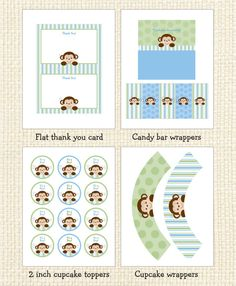 Hey, I found this really awesome Etsy listing at https://www.etsy.com/listing/161204014/monkey-baby-shower-party-package-instant