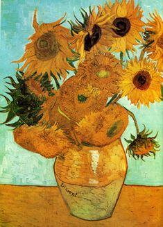 Van Gogh, Twelve Sunflowers in a Vase (1888)