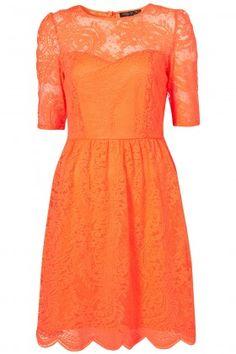 Pretty Orange Dress