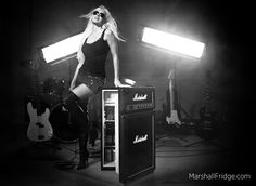 I wanna rock with this Marshall Speaker Beer Fridge!