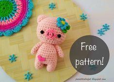 Amigurumi Pig English Free Pattern – Amigurumi Crochet Pig, Crochet Gratis, Crochet Hooks, Free Crochet, Crochet Amigurumi Free Patterns, Knitting Patterns, Cute Alpaca, Amigurumi Doll, Clowns