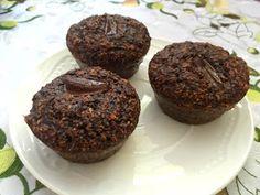 fit i zdrowe, podwójnie czekoladowe babeczki