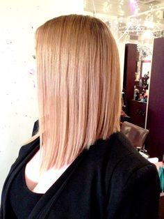 SHAUNAALENE the Lob, long bob, bob, blonde hair, womens haircut
