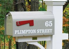 The Strong Box Mailbox from Walpole Woodworkers. Browse our large selection of Mailboxes. Walpole Woodworkers, Walpole Outdoors, Lantern Post, Mailbox, Lanterns, Woodworking, Lettering, Outdoor Decor, Strong