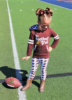 """It's Football Y'all"" Brown Hoodie Pant Set #boutique-outfits #new #perfect-sets"