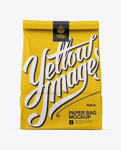 bag, bag mockup, exclusive, exclusive mockup, food, food pack, food to go, front view, high quality, high-quality mockups, hq, mock-up, mockup, pack, package, packaging, paper bag, paper bag mockup, psd, psd mockup, smart layers, smart object, to go, to go bag, yellow images, yellow images mockups