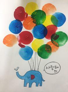 물풍선 던지기 놀이를 준비하면서~~^^ 물풍선으로 할 수 있는 재미있는 놀이가 또 없을까 고민하던 중 만난... Art Activities For Toddlers, Preschool Arts And Crafts, Art Therapy Activities, Kindergarten Crafts, Craft Stick Crafts, Preschool Activities, Painting For Kids, Drawing For Kids, Diy Art Projects Canvas