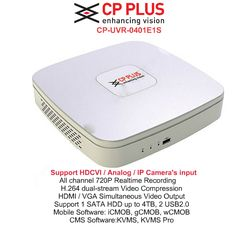 CP Plus HD DVR Standalone 4Ch. Model:CP-UVR-0401E1S