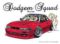 Crazy car art by mame-ozizo on DeviantArt Bmw Sketch, Silvia S13, Nissan 180sx, Jdm Wallpaper, Japan Street, Drifting Cars, Car Illustration, Weird Cars, Street Racing