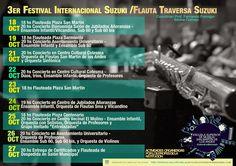 Cronograma 3er Festival de Flautas Suzuki ~ SMAndesPatagonia.com - Zona de Cultura