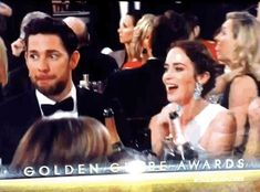 And John Krasinski and Emily Blunt were the most in sync couple in the room. | The 22 Most Important Things That Happened At The Golden Globes