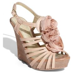 Seychelles 'Matter of Fact' Wedge Sandal Nude 7.5 M ($63) ❤ liked on Polyvore featuring shoes, sandals, wedges, heels, sapatos, sandals/slides, women, wedge heel platform shoes, seychelles footwear and wedges shoes