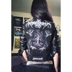 Folk Atmospheric Black Metal Battle Vest ❤ liked on Polyvore featuring outerwear, vests, vest waistcoat, patch vest and metal vest