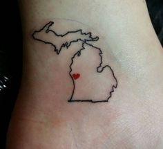 Simple State of Michigan tattoo