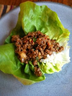 chicken lettuce wraps LIKE FROM PF CHANGS