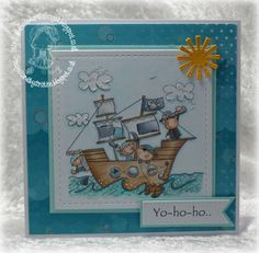 Handmade by Christine: Ahoy there me hearties.....